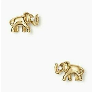 NWT Kate Spade Gold plated Elephant Stud Earrings